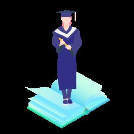 摄图网_401494205_女学生毕业图标免抠矢量插画素材(非企业商用)